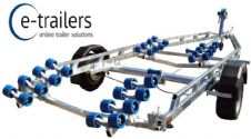 EXTREME 1800kg 32 ROLLER SWING BEAM BOAT TRAILER  - 18ft BOATS or 6m RIBS